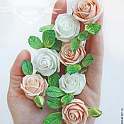 Свадебный салон ручной работы. Ярмарка Мастеров - ручная работа Роза в прическу. Handmade.