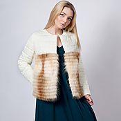 """Одежда ручной работы. Ярмарка Мастеров - ручная работа Куртка с мехом """" Souffle new """".. Handmade."""
