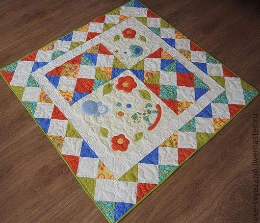 Работы для детей. Пледы и одеяла. Лоскутное одеяло.  Анастасия Федорова (groNik) ` Три лоскутка`. Ярмарка мастеров.