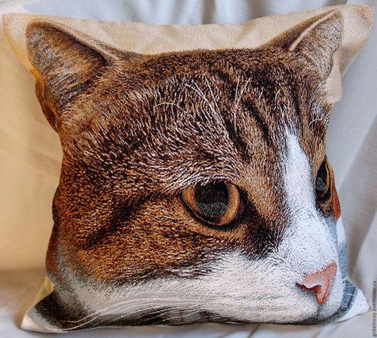 Текстиль, ковры ручной работы. Ярмарка Мастеров - ручная работа. Купить ВЕСНА: чехол гобеленовый на подушку, 45-45 см. Handmade.
