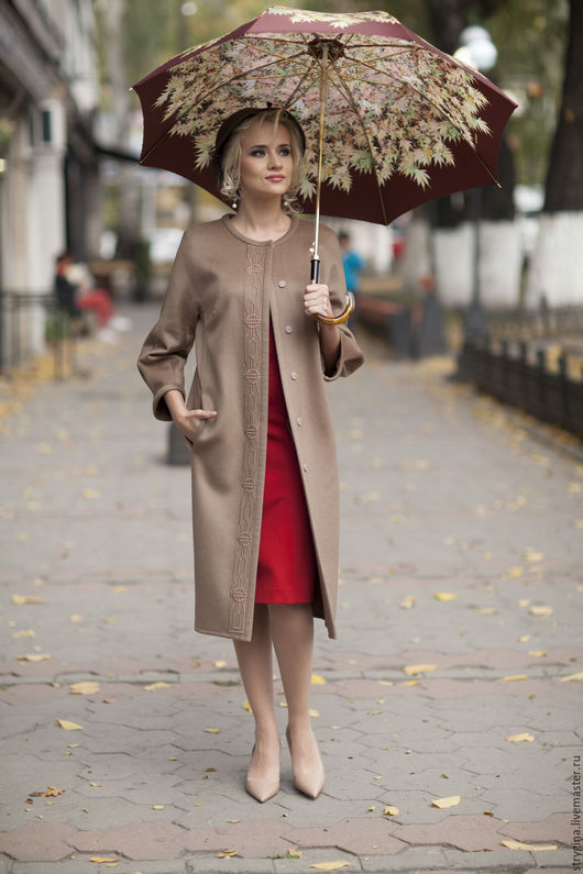 Верхняя одежда ручной работы. Ярмарка Мастеров - ручная работа. Купить пальто Eleganza. Handmade. Бежевый, пальто кашемировое, кашемир