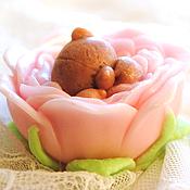 """Косметика ручной работы. Ярмарка Мастеров - ручная работа Мыло """"Малыш Мишка в цветке"""". Handmade."""