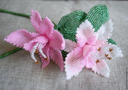 Цветы ручной работы. Ярмарка Мастеров - ручная работа. Купить Орхидеи из бисера. Handmade. Разноцветный, цветы из бисера, красивый подарок