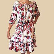 Одежда ручной работы. Ярмарка Мастеров - ручная работа Платье летнее , яркое .. Handmade.