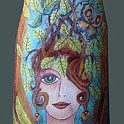"""Одежда ручной работы. Ярмарка Мастеров - ручная работа туника валяная """"Девушка с бабочкой"""". Handmade."""