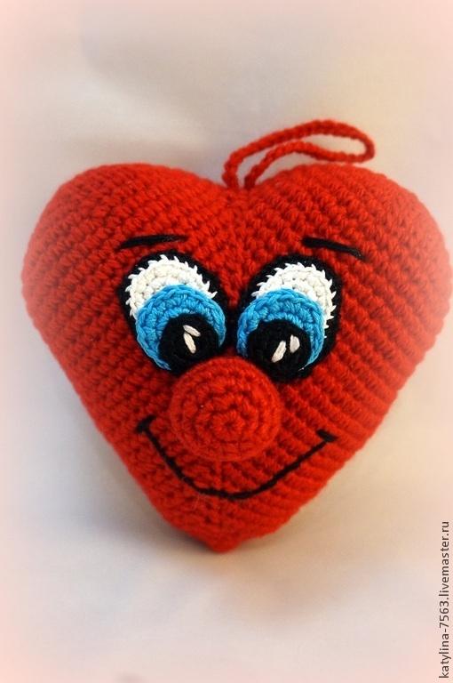 Подарки для влюбленных ручной работы. Ярмарка Мастеров - ручная работа. Купить Сердце большое. Handmade. Ярко-красный, сердечко