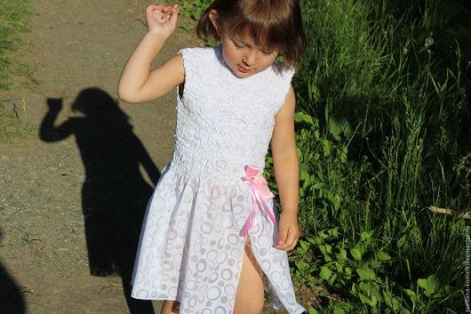 Одежда для девочек, ручной работы. Ярмарка Мастеров - ручная работа. Купить Платье для маленькой принцессы валяное.. Handmade. Белый