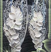 """Свадебный салон ручной работы. Ярмарка Мастеров - ручная работа Свадебные бокалы """"Лилия"""". Handmade."""