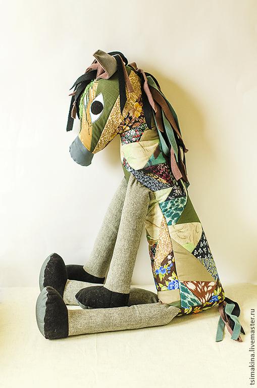 Текстиль, ковры ручной работы. Ярмарка Мастеров - ручная работа. Купить Лоскутная лошадь. Handmade. Лоскутная техника, лошадь