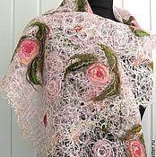 Палантины ручной работы. Ярмарка Мастеров - ручная работа Ажурный шарф - палантин- ESTERA. Handmade.
