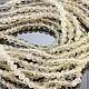 Бусины из натурального лунного камня адуляр формы шар диаметром 3,5-4 мм ниткой 35 см для использования в сборке украшений