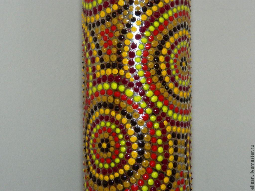 """Бутылка, точечная роспись """"Африка"""""""