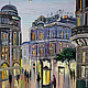 Город ручной работы. Ярмарка Мастеров - ручная работа. Купить Вечерний город - картина маслом ручной работы. Handmade. Питер