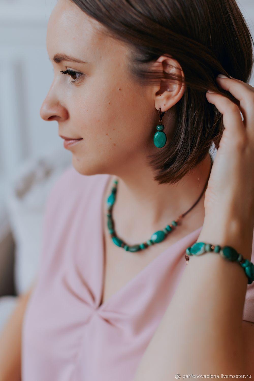 Earrings 'Thessalia', Earrings, Omsk,  Фото №1
