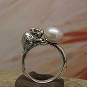 Украшения handmade. Livemaster - original item Mouse pearl ring. Handmade.