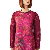 Одежда handmade. Livemaster - original item Felted tunic, Merino wool sweatshirt