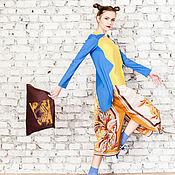 """Одежда ручной работы. Ярмарка Мастеров - ручная работа Летняя юбка с разрезом """"Кэйт"""". Handmade."""