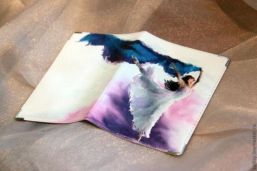 """Обложки ручной работы. Ярмарка Мастеров - ручная работа. Купить обложка """"Балерина"""". Handmade. Натуральная кожа, балерина, кожа натуральная"""