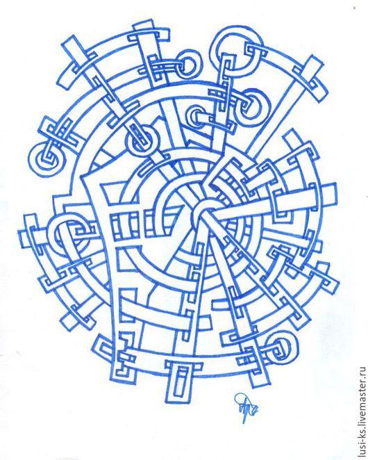 """Абстракция ручной работы. Ярмарка Мастеров - ручная работа. Купить Абстракция """"Лабиринт времени"""". Handmade. Абстракция, рисунок, abstract, drawing"""