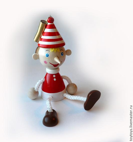 """Человечки ручной работы. Ярмарка Мастеров - ручная работа. Купить Игрушка """"Буратино"""" на пружинке. Handmade. Игрушка для детей, игрушка в подарок"""
