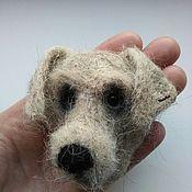 Мягкие игрушки ручной работы. Ярмарка Мастеров - ручная работа Собака-магнитик. Handmade.