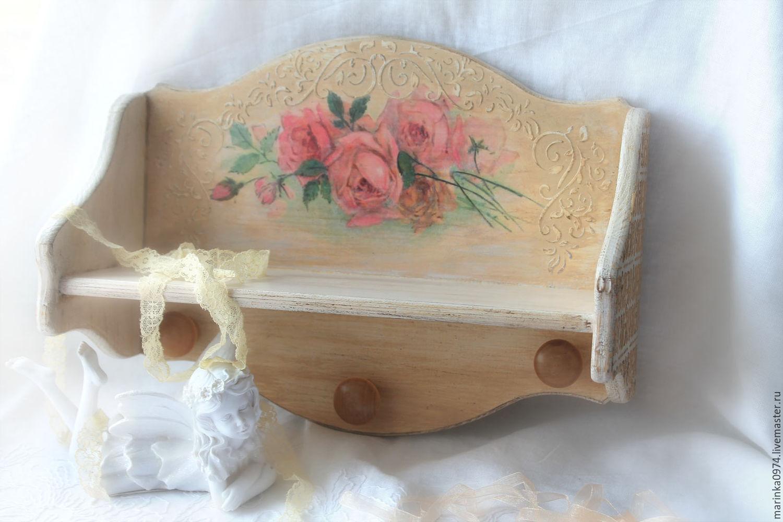 Furniture handmade. Livemaster - handmade. Buy Shelf ' From antique market in Paris'.Vintage, flowers, for kitchen