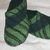 """Обувь ручной работы. Ярмарка Мастеров - ручная работа Тапки мужские """"Изумруд"""". Handmade."""
