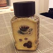 Для дома и интерьера handmade. Livemaster - original item Jar for coffee