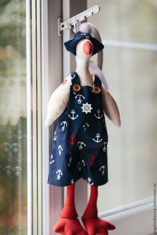Куклы Тильды ручной работы. Ярмарка Мастеров - ручная работа. Купить Гусь Тильда моряк. Handmade. Тёмно-синий
