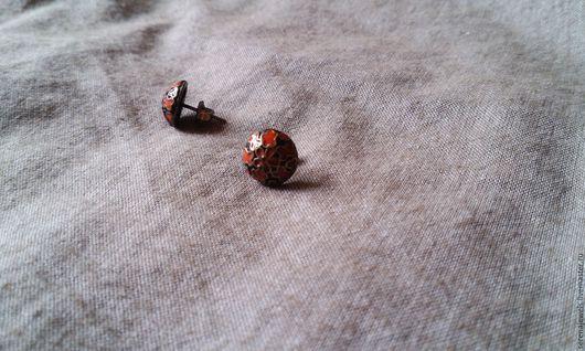 Винтажные украшения. Ярмарка Мастеров - ручная работа. Купить Гвоздики Клуазоне. Handmade. Оранжевый, бохо-стиль, гвоздики, cloisonne