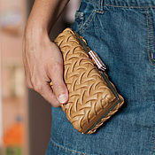 Сумки и аксессуары handmade. Livemaster - original item Leather clutch Bourbon. Handmade.