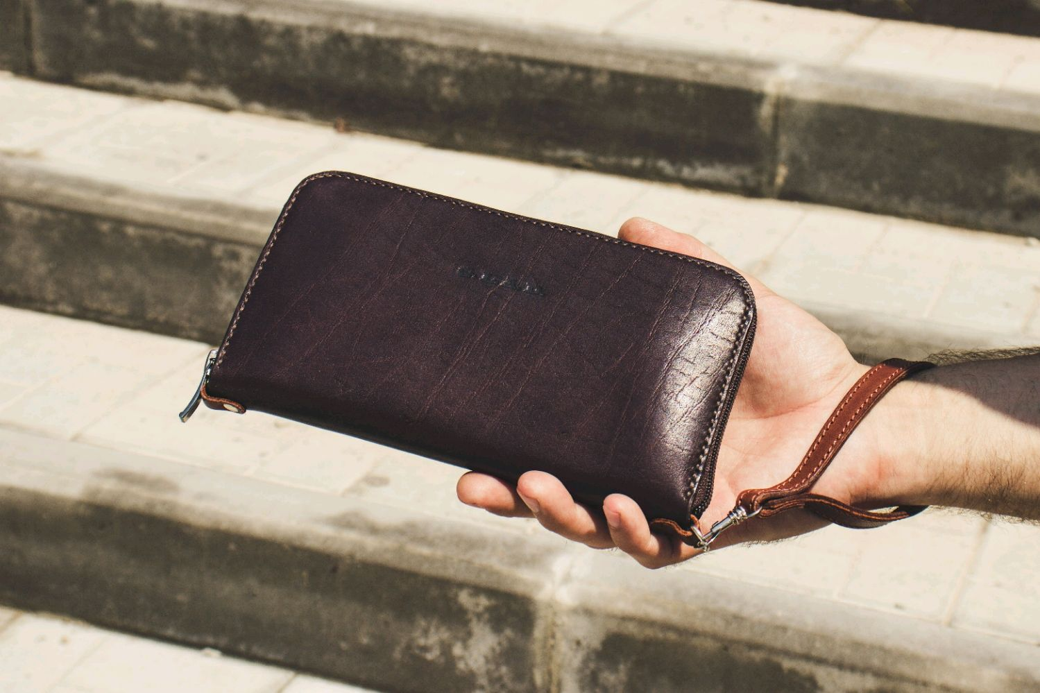 Wallet  clutch  brown leather purse, Man purse, Volzhsky,  Фото №1