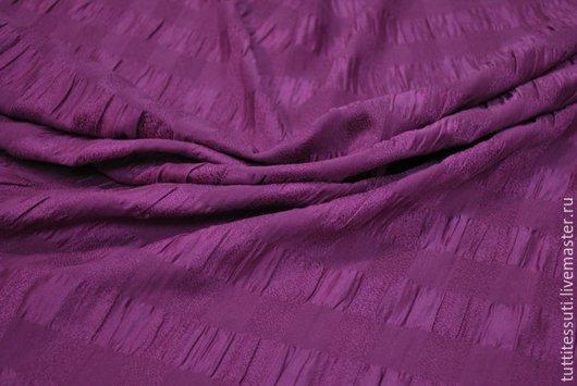 Шитье ручной работы. Ярмарка Мастеров - ручная работа. Купить Шелк 01-003-1682. Handmade. Фиолетовый, Плательная ткань