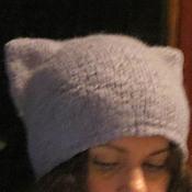 """Аксессуары ручной работы. Ярмарка Мастеров - ручная работа Шапка """"Котошапка"""", шапка с ушками. Handmade."""