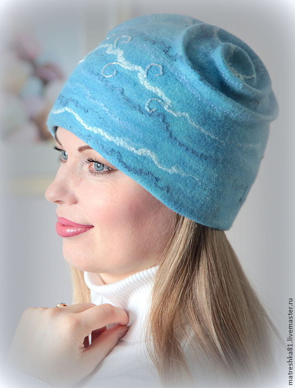 Felted Hat 'Queen of the gentle'winter, Caps, Khabarovsk,  Фото №1