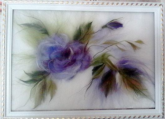 Картины цветов ручной работы. Ярмарка Мастеров - ручная работа. Купить Так нежны сиреневые розы.... Handmade. Комбинированный