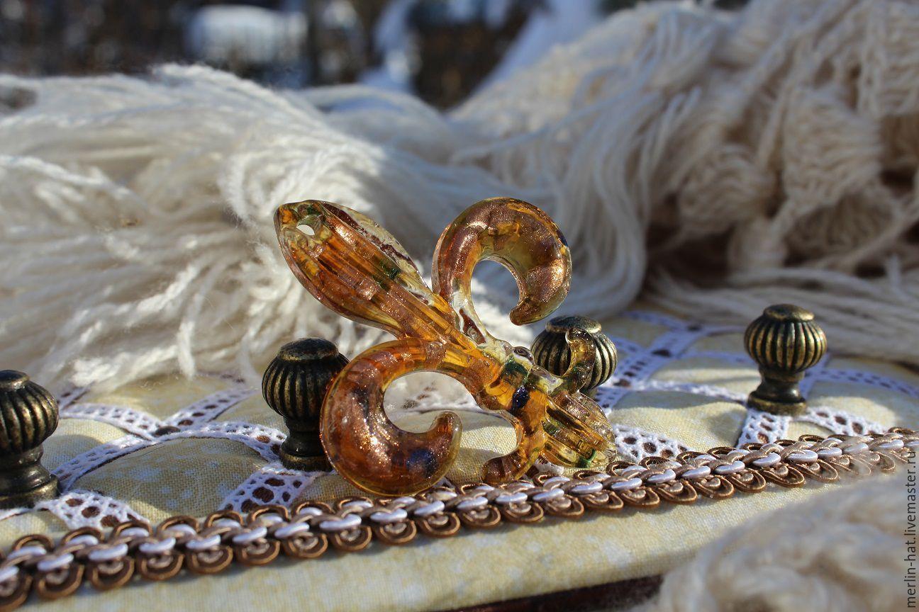Pendant Murano glass 'Fleur de Lis', Pendants, Tambov,  Фото №1