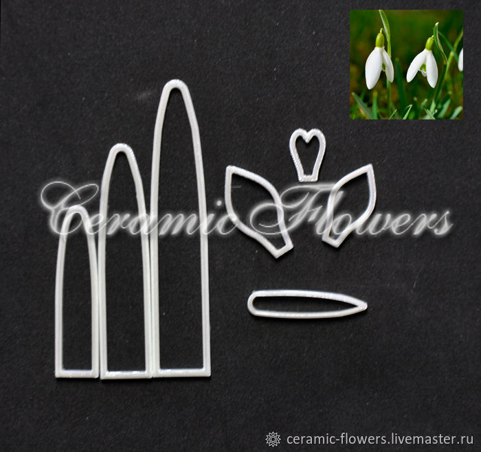 A set of cutters Snowdrops, plastic, Cutters, Rostov-on-Don,  Фото №1