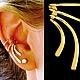 Ювелирные каффы из золота 585 пробы или Ear cuff от Stepan Vasiliev Jewelry.  Ярмарка мастеров-ручная работа. Купить каффы из золота 585 пробы. Каффы серьги ручной работы и подгибается на любое ушко.