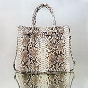 Сумки и аксессуары handmade. Livemaster - original item Bag made of Python skin OSCAR. Handmade.