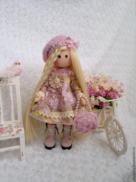 Коллекционные куклы ручной работы. Ярмарка Мастеров - ручная работа. Купить Vanessa. Handmade. Кремовый, подарок подруге, кружево винтажное