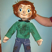 Puppet show handmade. Livemaster - original item Tablet doll double