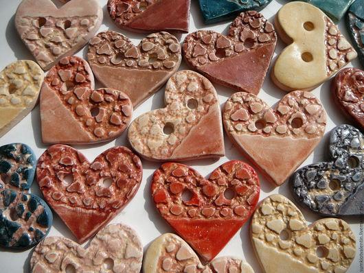 """Шитье ручной работы. Ярмарка Мастеров - ручная работа. Купить Пуговицы """"Сердечки"""". Handmade. Пуговицы, сердце, необычная пуговица"""