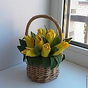 Цветы и флористика ручной работы. Ярмарка Мастеров - ручная работа желтые тюльпаны. Handmade.