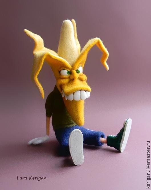 Сказочные персонажи ручной работы. Ярмарка Мастеров - ручная работа. Купить Мистер Банановые Мозги. Handmade. Желтый, мальчик бананан