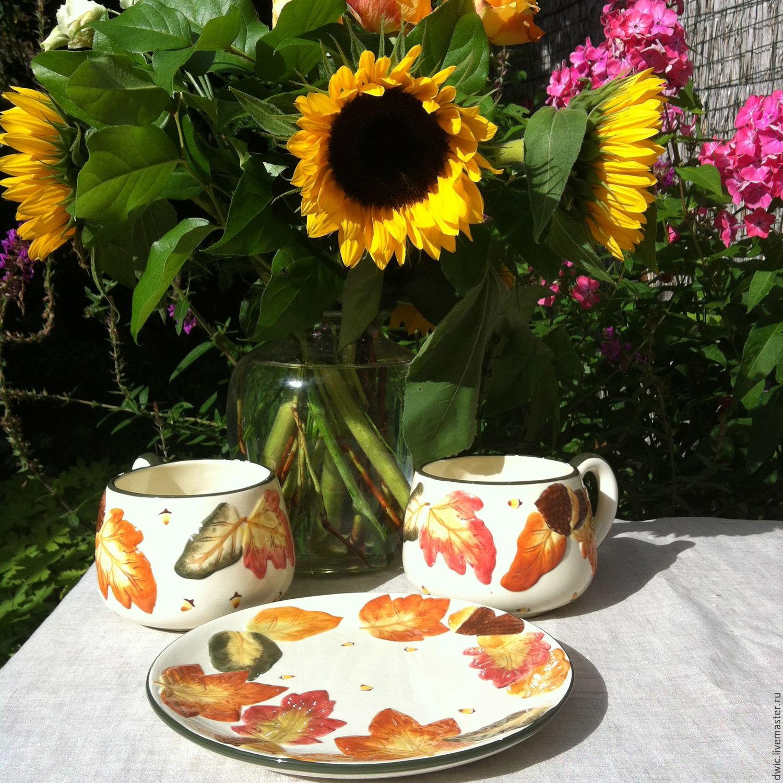 A set of 3 objects, pottery 'Autumn Symphony' (Holland), Vintage sets, Arnhem,  Фото №1