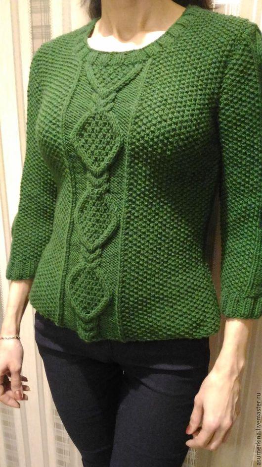 Кофты и свитера ручной работы. Ярмарка Мастеров - ручная работа. Купить Свитер Весна в зеленом. Handmade. Зеленый, свитер женский