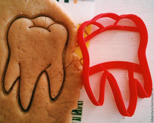 Кухня ручной работы. Ярмарка Мастеров - ручная работа. Купить Форма для пряников и печенья Зуб. Handmade. Разноцветный, формочка для печенья