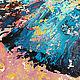 """Животные ручной работы. """"Абстрактный Бирюзовый Слон"""" картина маслом. ЯРКИЕ КАРТИНЫ Наталии Ширяевой. Ярмарка Мастеров."""