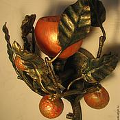 """Для дома и интерьера ручной работы. Ярмарка Мастеров - ручная работа Кованый светильник - бра """" Яблонька"""". Handmade."""